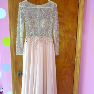 long sparkly prom dress